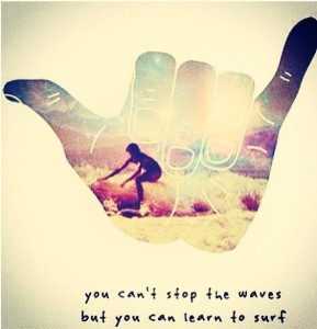 can't stop the waves, learn to surf